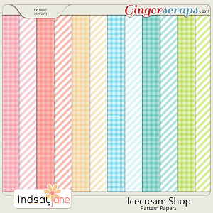 Icecream Shop Pattern Papers by Lindsay Jane