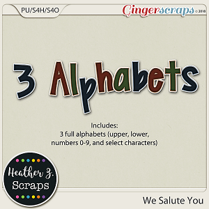 We Salute You ALPHABETS by Heather Z Scraps