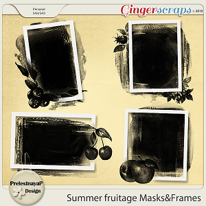 Summer fruitage Masks&Frames