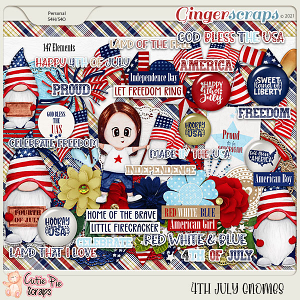 4Th July Gnomes Elements