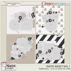 Photo Addict - Templates VOL.1 - By Neia Scraps