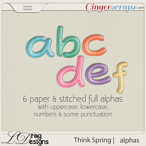 Think Spring: Alphas by LDragDesigns