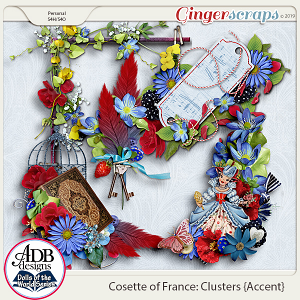 Cosette Accent Clusters {DOTW France} by ADB Designs