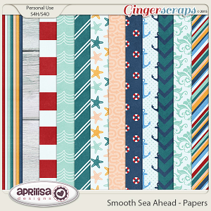 Smooth Sea Ahead - Papers by Aprilisa Designs