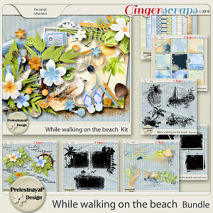 While walking on the beach Bundle