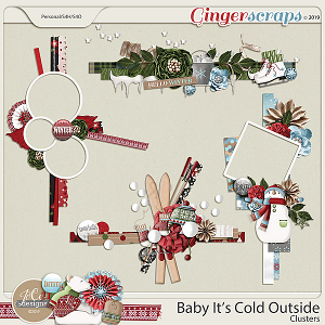 Baby It's Cold Outside Clusters by JoCee Designs