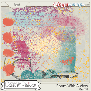 Room With A View - Graffiti by Connie Prince