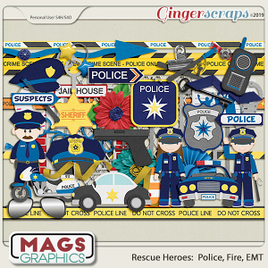 Rescue Heroes POLICE Pack by MagsGraphics