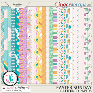 Easter Sunday - Patterned Papers - by Neia Scraps and JB Studio