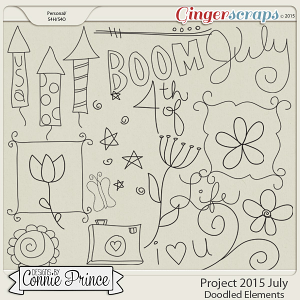 Project 2015 July - Doodled Elements