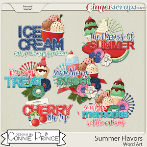 Summer Flavors - Word Art Pack by Connie Prince