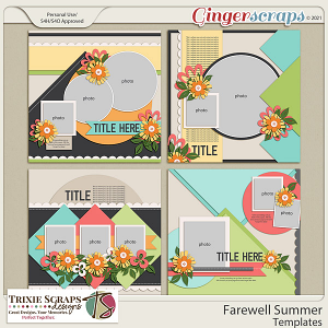 Farewell Summer Template Pack by Trixie Scraps Designs