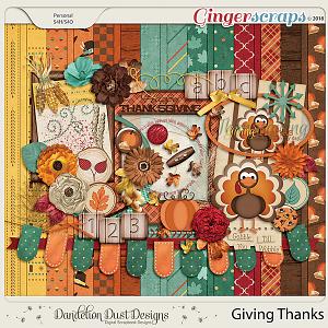 Giving Thanks Digital Scrapbook Kit by Dandelion Dust Designs