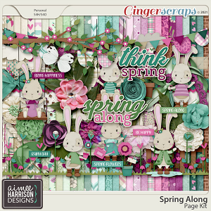 Spring Along Page Kit by Aimee Harrison
