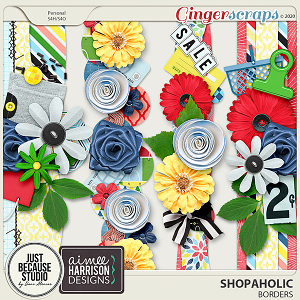 Shopaholic Borders by JB Studio and Aimee Harrison Designs