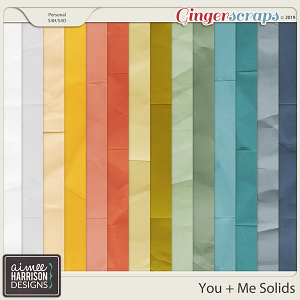 You and Me Solid Papers by Aimee Harrison