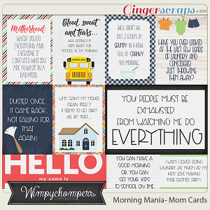 Morning Mania- Mom Cards