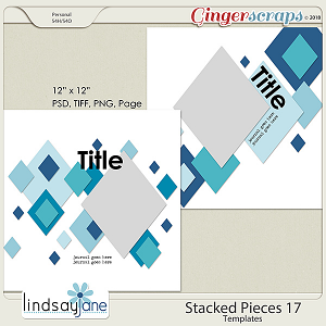 Stacked Pieces 17 Templates by Lindsay Jane