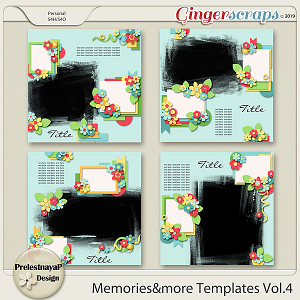 Memories&more Templates Vol.4