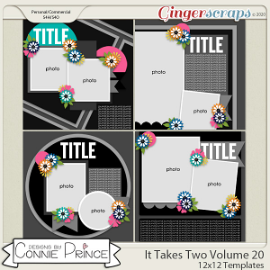 It Takes Two Volume 20 - 12x12 Temps (CU Ok) by Connie Prince