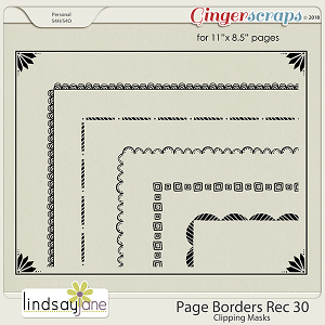 Page Borders Rec 30 by Lindsay Jane