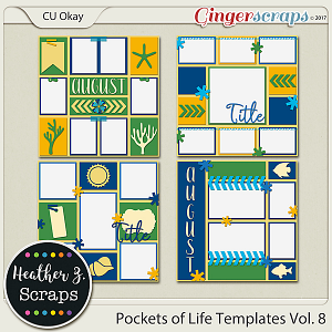 Pockets of Life TEMPLATES Vol. 8 by Heather Z Scraps