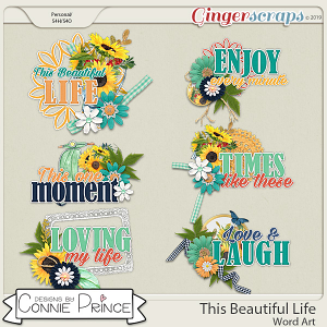 This Beautiful Life - Word Art Pack by Connie Prince