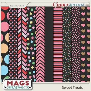 Sweet Treats BLACK PAPERS by MagsGraphics