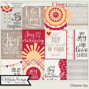 Choose Joy Pocket Scrap Cards