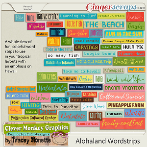 Alohaland Word Strips Pack by Clever Monkey Graphics