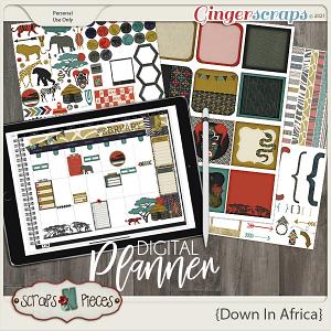 Down In Africa Planner Pieces- Scraps N Pieces