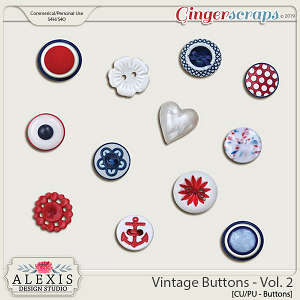 Vintage Buttons Vol. 2 - CU by Alexis Design Studio