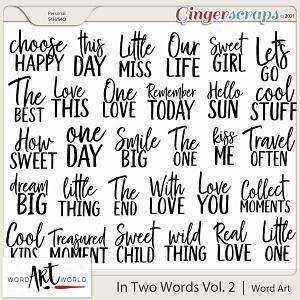 In Two Words Vol. 2 Word Art