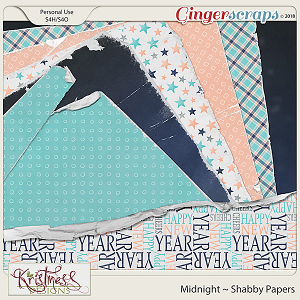 Midnight Shabby Papers