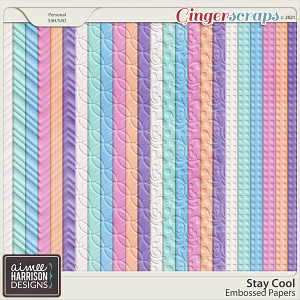 Stay Cool Embossed Papers by Aimee Harrison