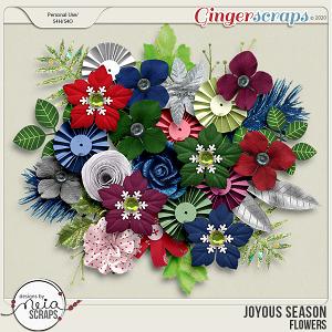 Joyous Season - Flowers - by Neia Scraps