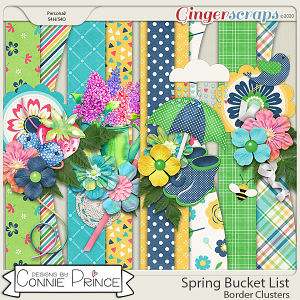 Spring Bucket List - Border Clusters by Connie Prince