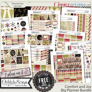 Comfort and Joy Big Planner Sticker Bundle