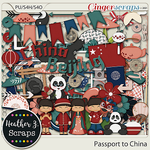 Passport to China ELEMENTS by Heather Z Scraps