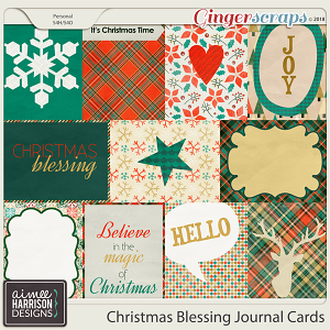 Christmas Blessing Journal Cards by Aimee Harrison