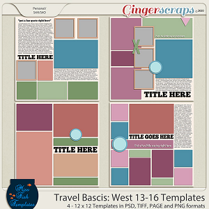 Travel Basics Album: West 13-16 Templates by Miss Fish
