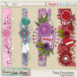 Two Fourteen Page Borders from Designs by Lisa Minor