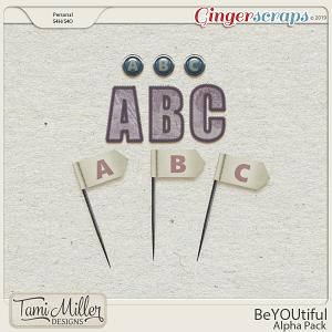 BeYOUtiful Alpha Pack by Tami Miller Designs