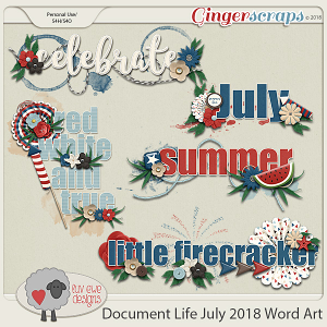 Document Life July 2018 Word Art by Luv Ewe Designs