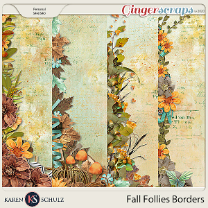 Fall Follies Borders by Snickerdoodle Designs