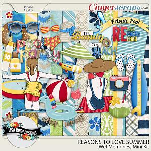 Reasons to Love Summer - Wet Memories Mini Kit by Lisa Rosa Designs