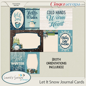 Let It Snow Journal Cards