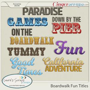 Boardwalk Fun Titles