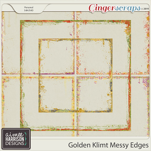 Golden Klimt Messy Edges by Aimee Harrison