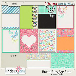 Butterflies Are Free Journal Cards by Lindsay Jane